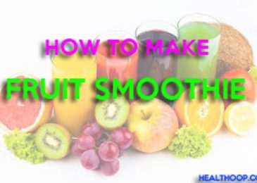 How to make fruit smoothie